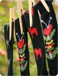 Strumpor Kurbits, Dala Horse socks.