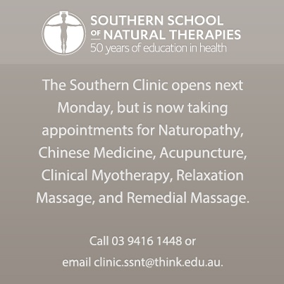 Affordable natural therapies treatments at our on campus student clinic.