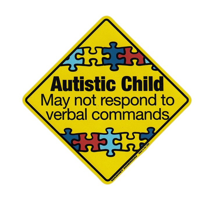 """Magnetic Bumper Sticker - Autistic Child Warning (Autism Awareness) - Diamond Shaped Magnet - 5.5"""" x 5.5"""""""