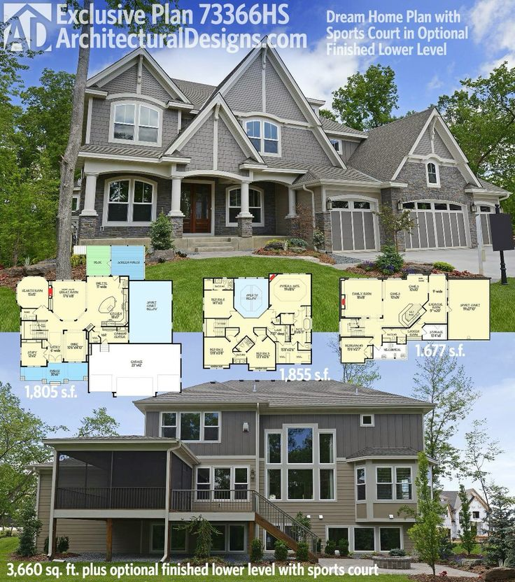 Best 25 home plans ideas on pinterest house plans for Sport court cost per square foot