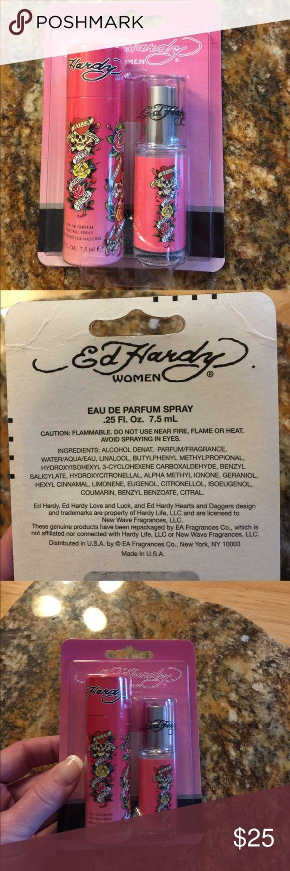 Ed Hardy Women spray! New! New! Ed Hardy Women Eau Dr Parfume spray. Perfect stocking stuffer!! Size: .25 Fl. Oz./7.5 mL. Has cute carrier tube! Ed Hardy Other