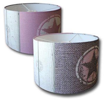 Kinderlamp sterren roze / grijs