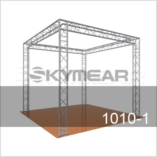 1010 1 10x10 Ft Exhibits And Display Booths 01 Skymear Trade Show 10 X 10ft Truss Systems Are Available In 10 Roof Truss Design Roof Plan Display Banners