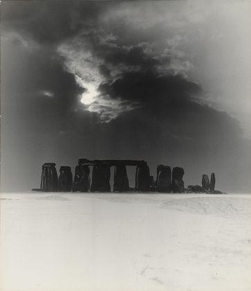 Bill Brandt. Stonehenge under Snow. 1947