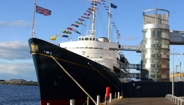 the Royal Yacht Britannia moored at Ocean Terminal in Leith - one of the places to visit on a Royal Edinburgh break.  Stay at Craigwell Cottage and enjoy the Edinburgh Royal attractions. More about the cottage at: http://www.2edinburgh.co.uk