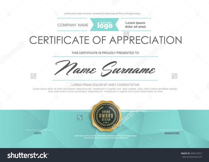 16 best Certificate images on Pinterest Award certificates - certification of appreciation wording