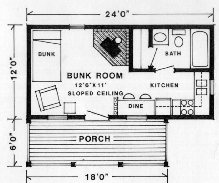 Trapper F P Tiny House Floor Plans Cabin Floor Plans Tiny House Plans