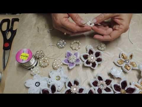 Shabby Chic Pearl Flower Tutorial - jennings644 - YouTube