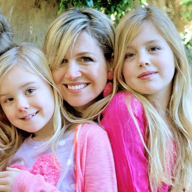 Queen Maxima, Princess Alexia and Princess Ariane