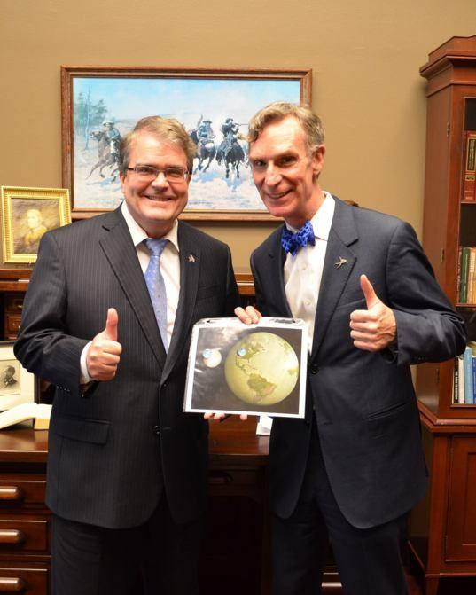 John Culberson and Bill Nye (and Europa)