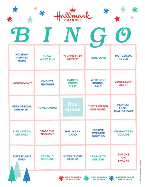 Create Your Own Countdown To Christmas Bingo Card From Hallmark Cards CountdownToChristmas HallmarkChannel HallmarkCards