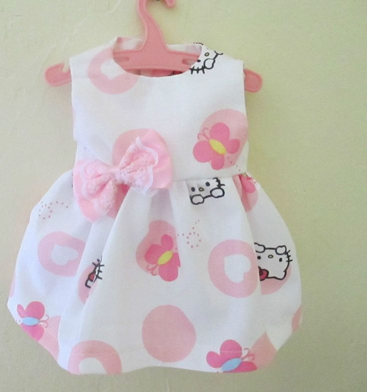 """13"""" Baby Alive Doll Clothes Hello Kitty Dress Pink White Adorable 12 13"""" Dolls 