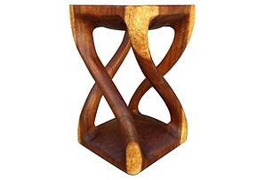 4-Legged Twist Stool: Twists Stools, 4Leg Twists, 4 Legs Twists, Stools Carvings