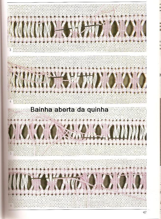 BAINHAS ABERTAS DA QUINHA: BORDADO DE BAINHAS ABERTAS