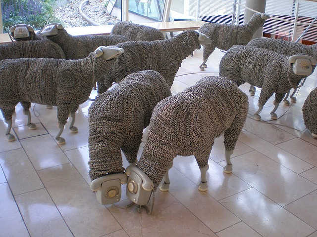 'Telephone Sheep', Jean Luc Cornec, Museum für Kommunikation, Frankfurt am Main by hanneorla, via Flickr
