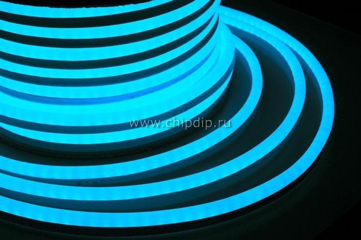 Фото 1/2 131-043, Гибкий неон светодиодный, постоянное свечение, синий, 24В, бухта 50м NEON-NIGHT