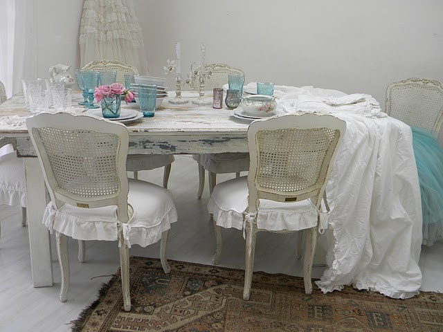 Shabby chic girls shabby chic - Shabby chic dining room chair covers ...