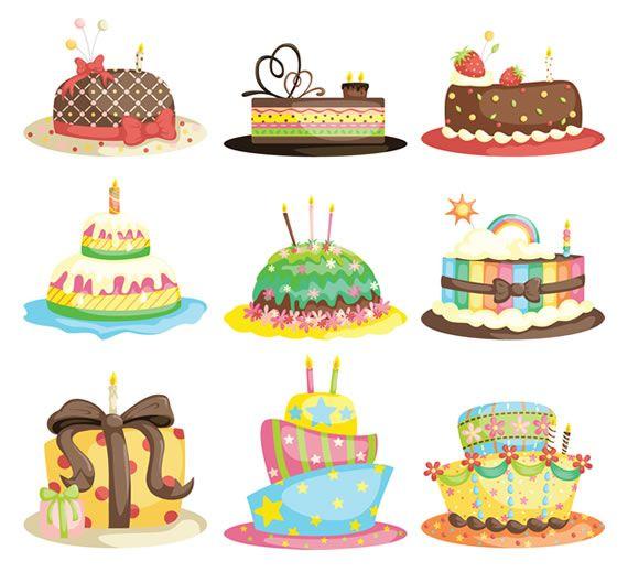 dibujo de torta de cumpleaños a color - Buscar con Google