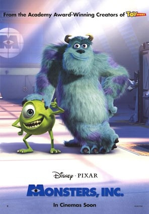 Monsters, Inc. (2001) - Click image to find more Film, Music & Books Pinterest pins