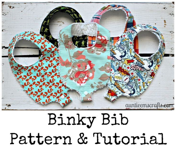 Free Pacifier/Binky Bib Pattern and Tutorial by AuntieEmsCrafts.com