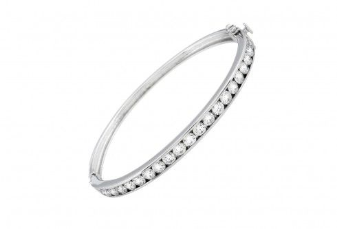 Diamonfire silver bangle