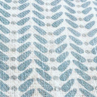 Geometric Scandinavian Fabric Per Metre Curtain Fabric Linen Fabric Blue Grey