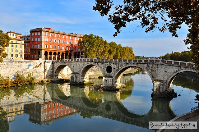 River reflections - Rome, Italy