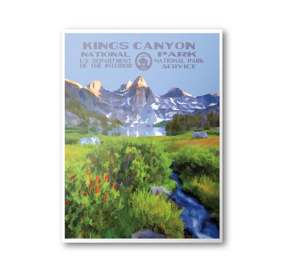 Kings Canyon National Park Travel Poster