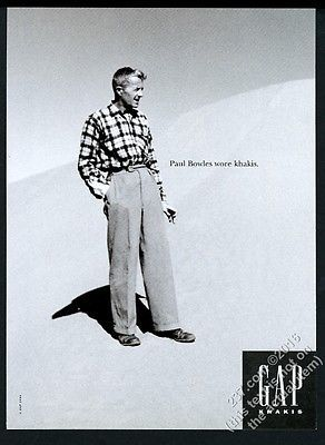 1994 Paul Bowles photo The Gap fashion store vintage print ad | eBay