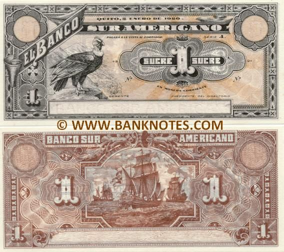 This Ecuadorian currency features a picture of Christopher Columbus's ship on the back side.  This reminds me of the historical significance of Christopher Columbus to all of the Americas, not just North America.