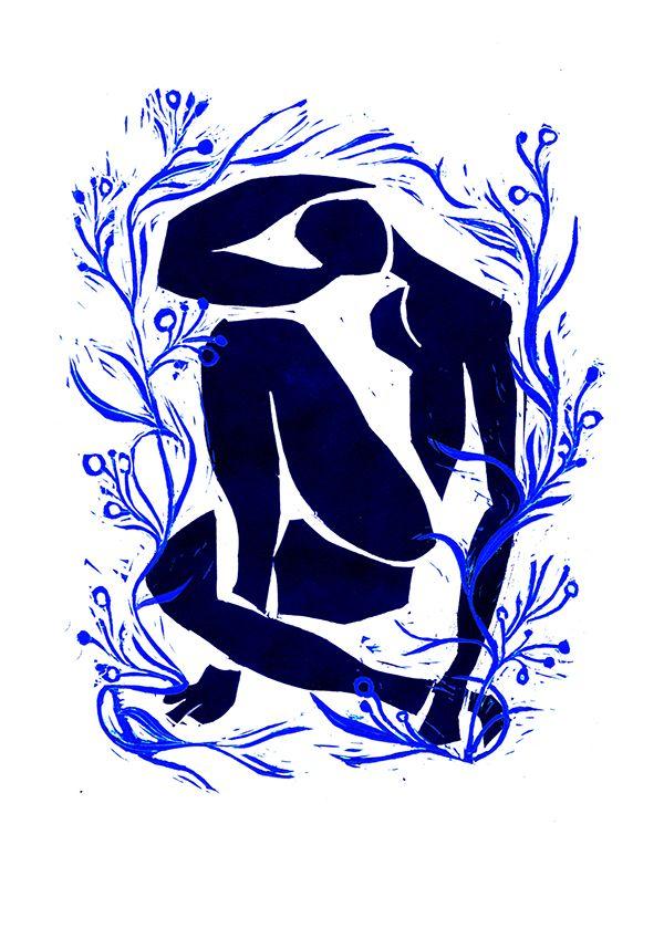 Linocut Matisse on Behance