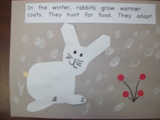 Chalk Talk: A Kindergarten Blog: Winter Wonderland    the construction paper animals are from TLC lessons animals in winter