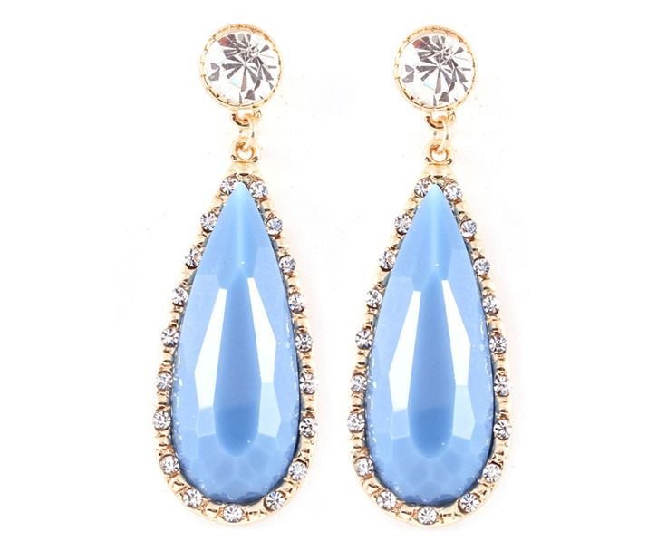 Claire Earrings in Morning Blue on Emma Stine Limited