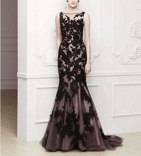 2013 New Long Black Applique Evening Formal Prom Party Cocktail Dresses Wedding Gown on Etsy, $173.00