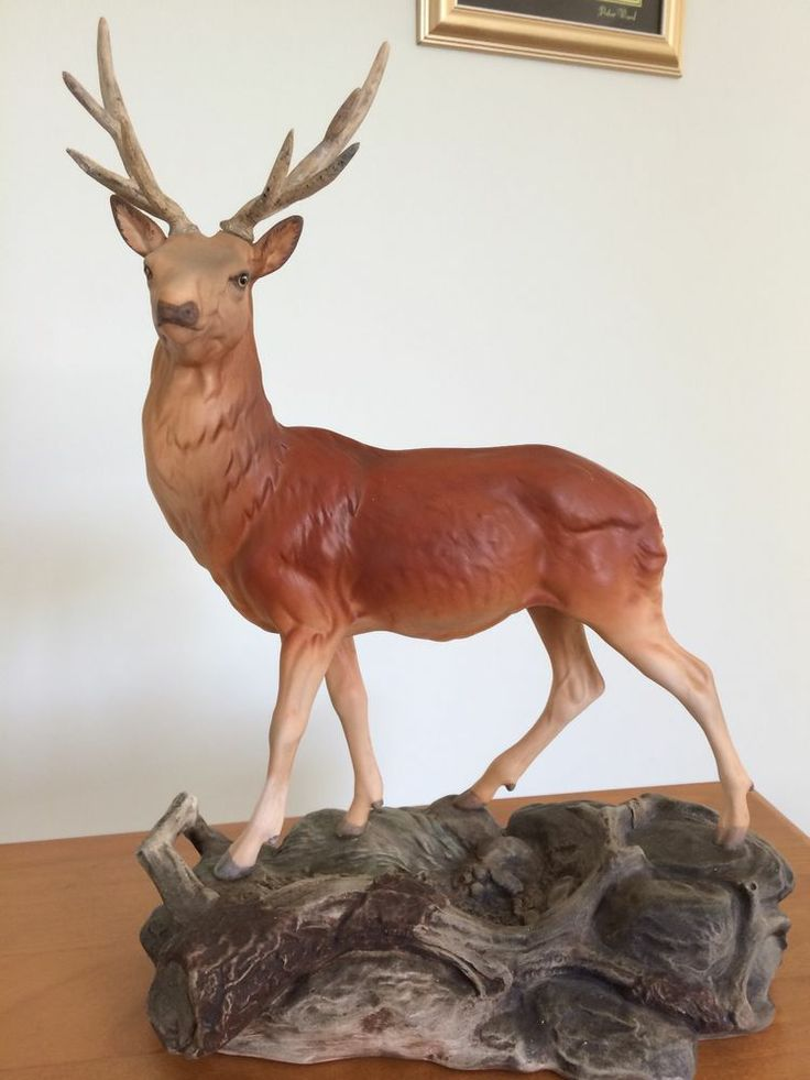 Beswick Stag On Ceramic Base 87 Figurines Crystals
