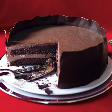 Chocolate Panna Cotta Layer Cake Recipe  | Epicurious.com