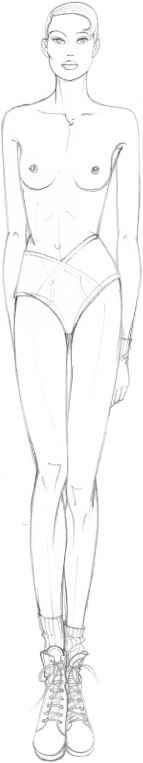 The Fashion Plate Figure Drawing: