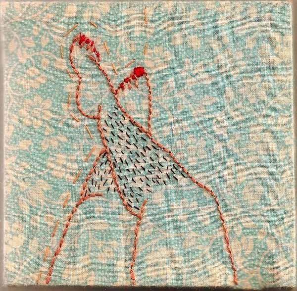 Illustrations brodées par Alaina Varrone