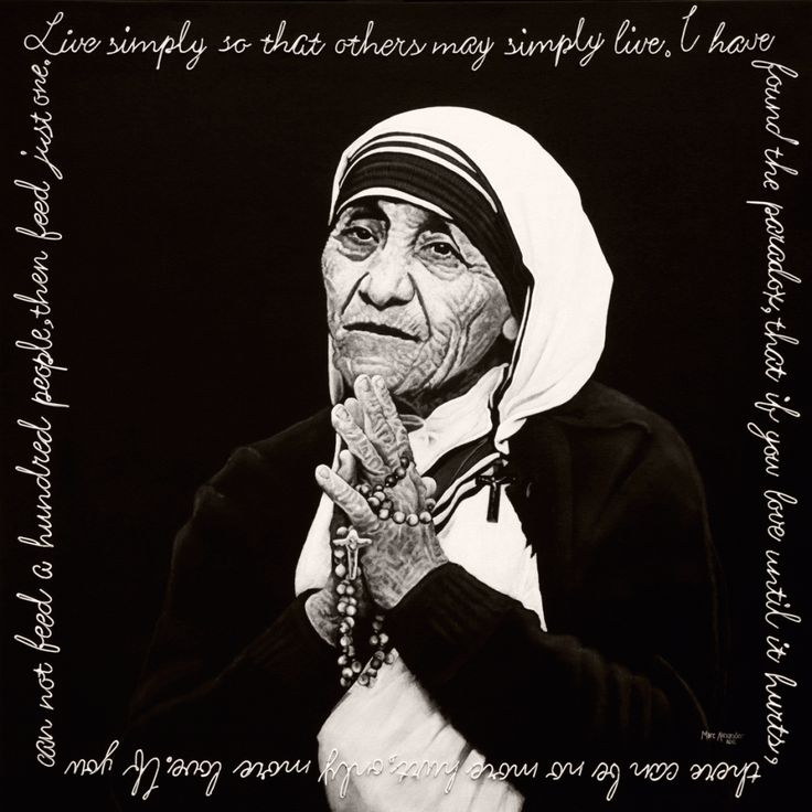 Legacy---Mother-Teresa. Oil on canvas by South African artist, Marc Alexander