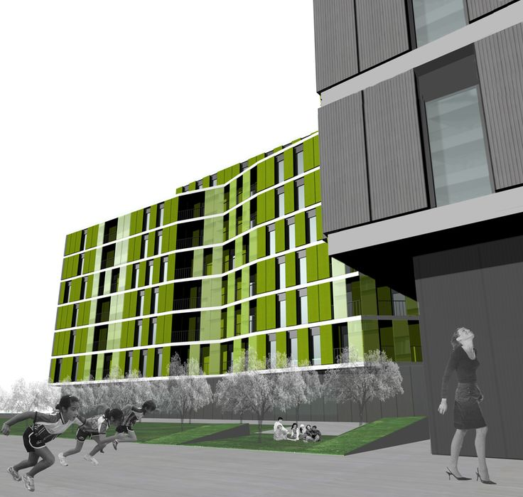 Edificios moderno exterior jard n dibujos fachada for Exterior edificios