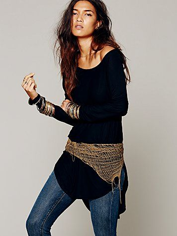 Free People Dripped Chain Belt