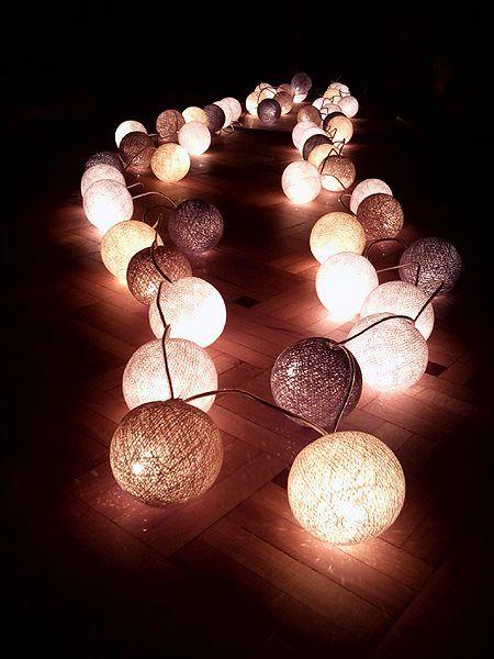 Decorative Ball Lights 48 Best Cotton Ball Lights Images On Pinterest  Cotton Ball