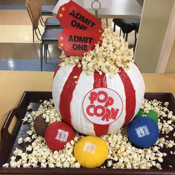 Save this Halloween pumpkin carving idea to make a popcorn bowl.