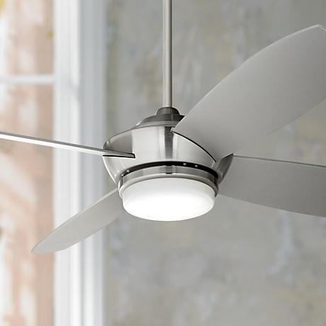 """52"""" Casa Vieja® Veridian Brushed Nickel Ceiling Fan"""