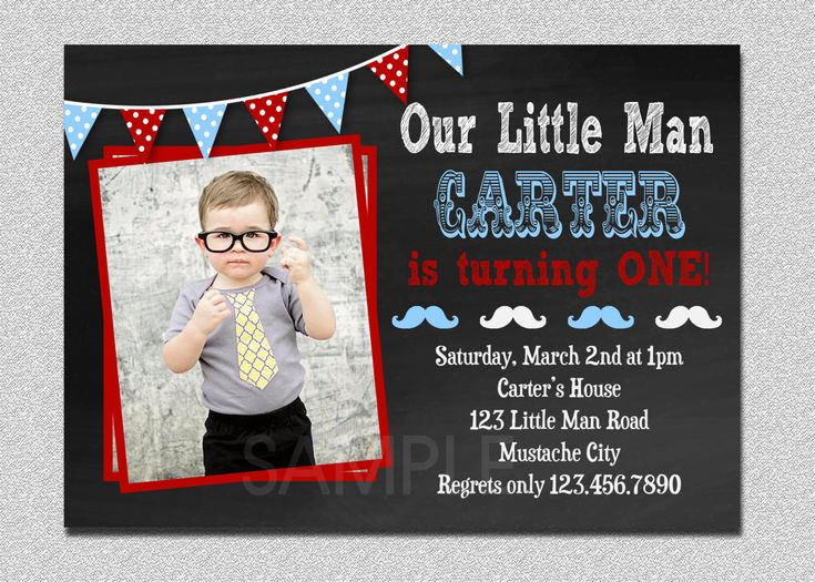 Little Man Birthday Invitation Little Man Mustache 1st Birthday Party Invitation Printable