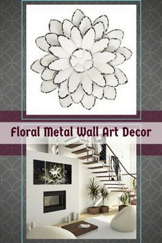 Here you will enjoy flower wall art decor from all over the world.  Floral wall art is absolutely feminine and pretty.  In fact, it brings an inherent softness to a bedroom, living room , bathroom or den.  Floral Metal Home Wall Art Decor