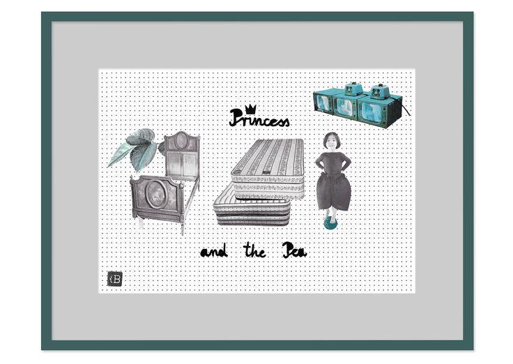 Princess and the Pea by Kinga Berkowska; collage papercuting