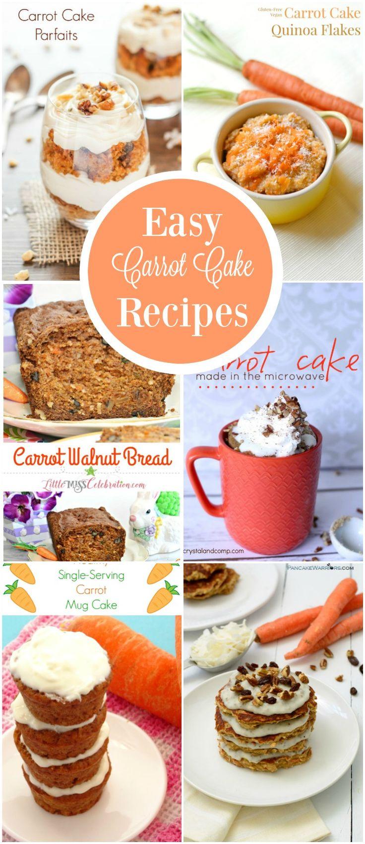 Easy quick carrot cake recipe