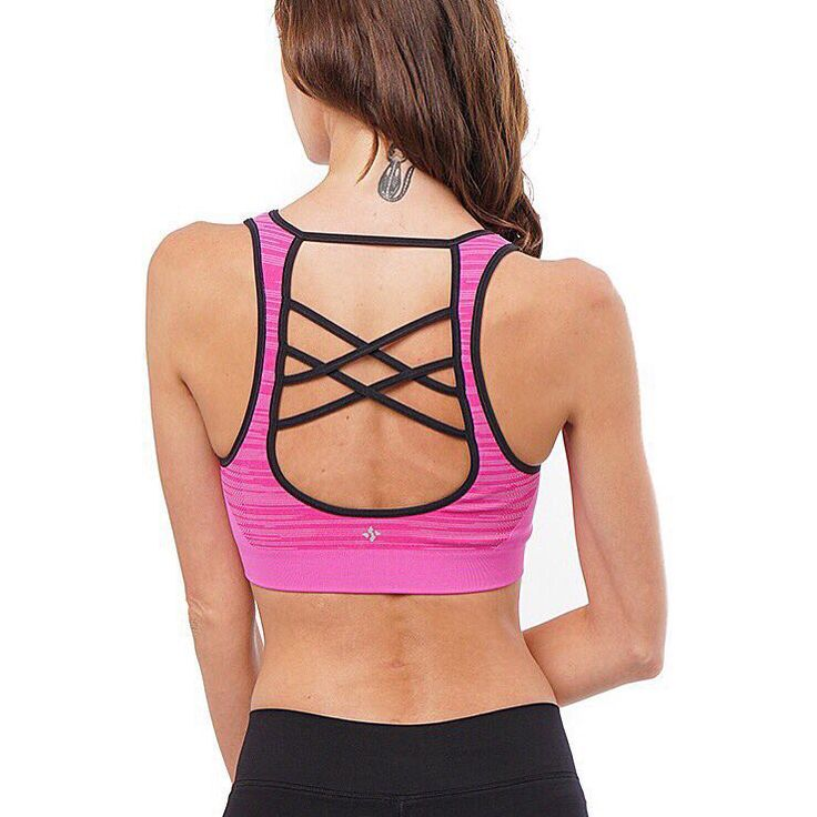 Our Pink Wave In-Route bra with exquisite back detail is an absolute must-have! Pick up the matching leggings to create the ultimate summer outfit!