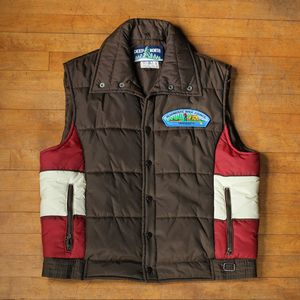 Puffy Ski Vest with Patch from Scout Vintage MPLS. #vintage #fashion #hipster #retro #camping #glamping #MN #mpls #minneapolis #style #tees #plaid #flannel